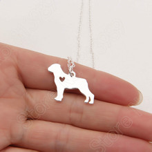 1pcs Rottweiler Necklace Pendant Puppy Heart Toy Dog Lover Pet Necklaces & Pendants Women Animal Charms Christmas Gift Lead Free
