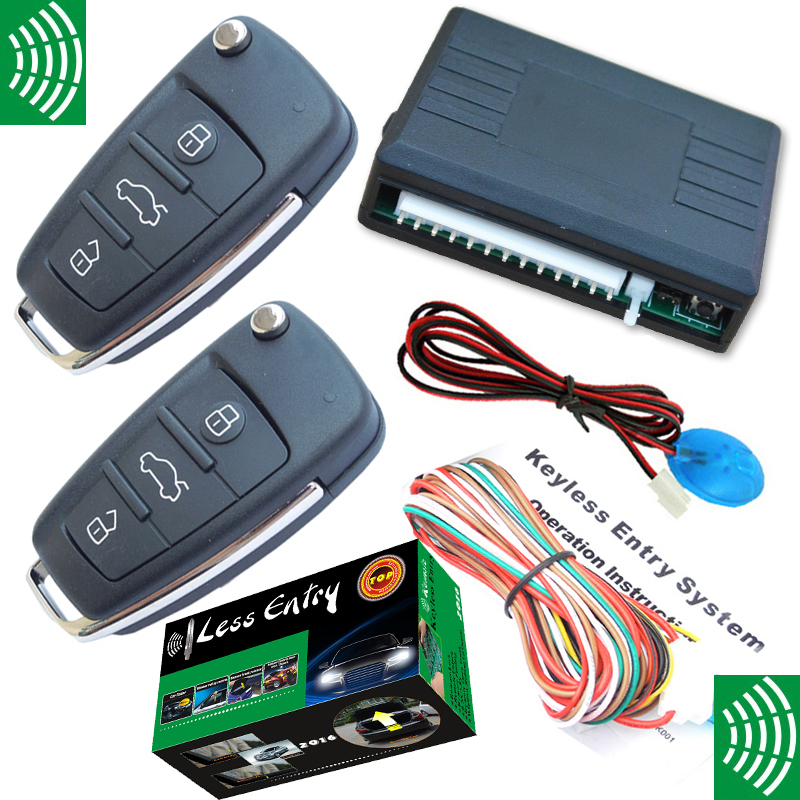 flip key remote keyless entry system car auto electronic central door lock unlock trunk release output without car alarm цена и фото