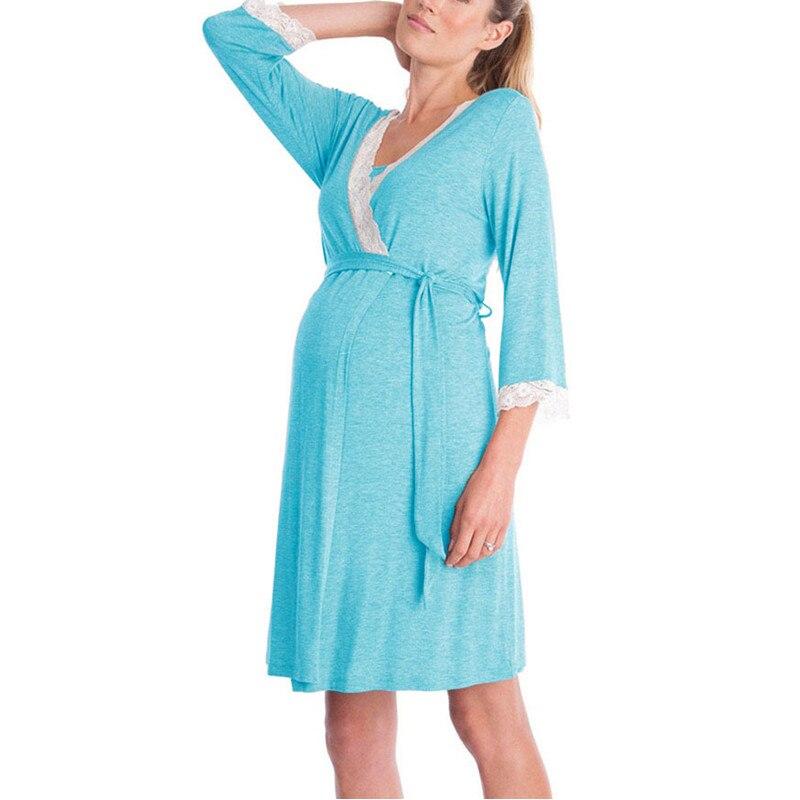 mangas vestidos robe com cinto roupas femininas gravidas 05