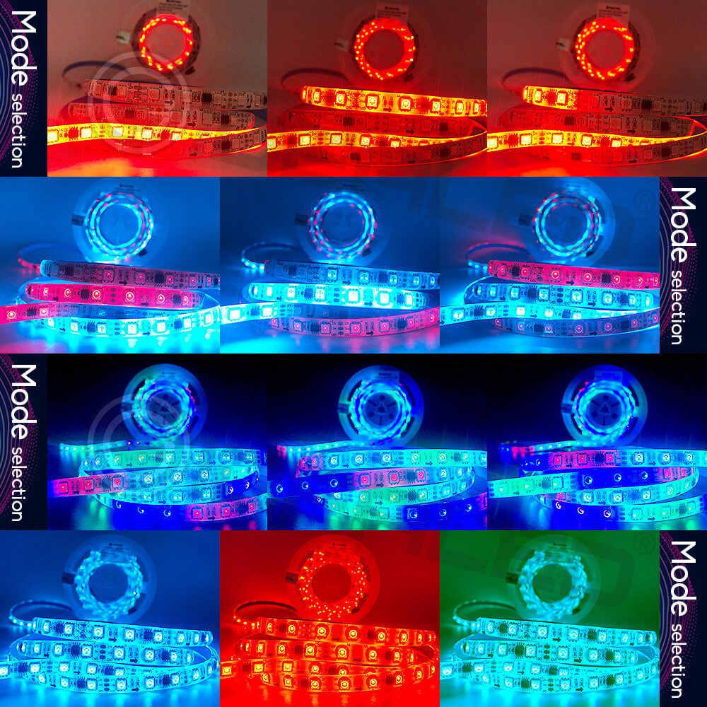Изменение цвета светодиодные ленты 5 м 300 светодиодный s Водонепроницаемый Гибкие Огни чеканка эффект динамический пульсированный Цвет Изменение с музыкой
