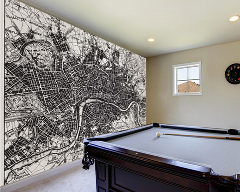 3d Fototapete London Custom 3d Retro Photo Wallpaper Historical Map Of London For