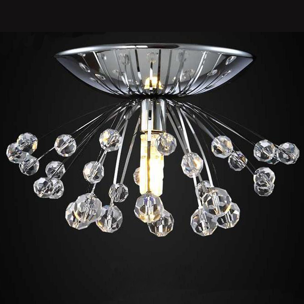 modern crystal chandelier light fixture dia15 h7cm mini lustre cristal led lamp for bedroom. Black Bedroom Furniture Sets. Home Design Ideas