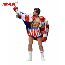 Children Collections 7 inches Rocky Sylvester Stallone Classic Video Games Appearance 1987 Figure Model With Box