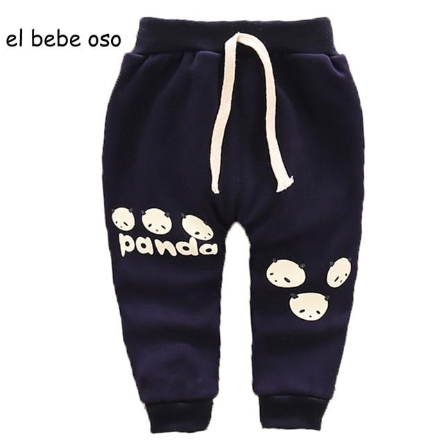 Venta caliente 2016 Nuevo Bebé Pantalones Calientes de Los Bebés de Espesor Pantalones de lana de Invierno de la Historieta Linda Primavera Pantalones de Los Niños Pantalones Casuales XL66