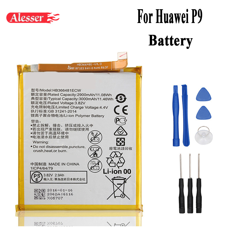 Alesser For Huawei P9 Honor 8 Lite P10 Lite Battery HB366481ECW Nova 3E For  Huawei P10 lite Ascend P9 Lite G9 honor 8 5C G9
