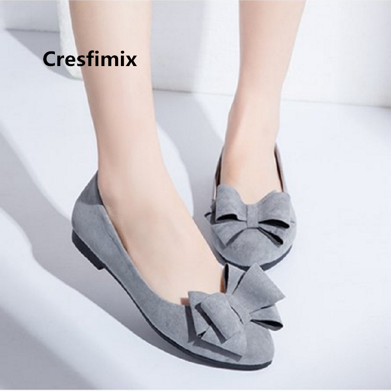 Cresfimix women fashion cute bow tie wine red flat shoes lady black comfortable office flats female grey casual shoes a3424Cresfimix women fashion cute bow tie wine red flat shoes lady black comfortable office flats female grey casual shoes a3424