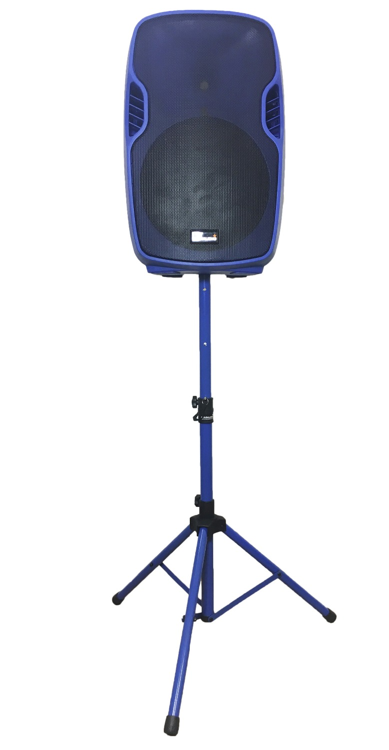 STARAUDIO Blue 15 3500W Powered Active PA DJ Stage USB SD FM BT Speaker with Stand Wired Mic SSBM-15