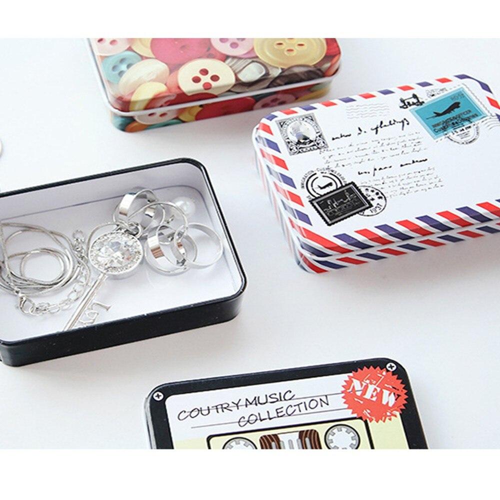 Новинка милые мультфильмы жестяная коробка мини Mac Косметика Организатор Чай контейнер конфеты чехол для хранения ювелирных изделий Рожде...