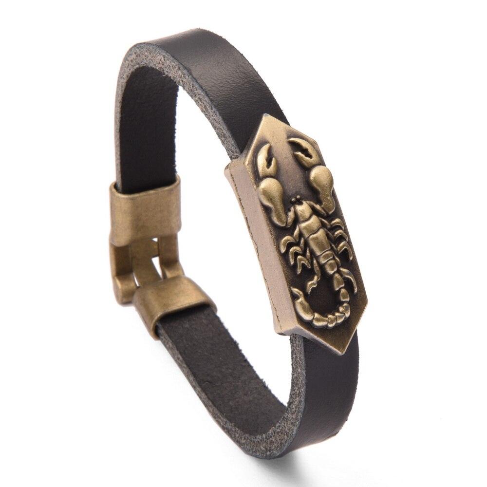 JQUEEN 2017 Top Fashion Men/Women Bracelet Charm Bracelets Jewelry Leather Scorpion Bracelet
