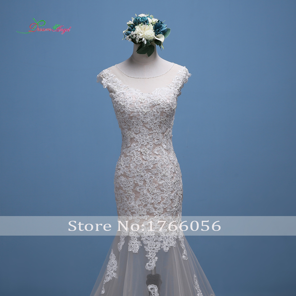 Dream Angel Vestido De Noiva Detachable Train Mermaid Wedding Dress ...