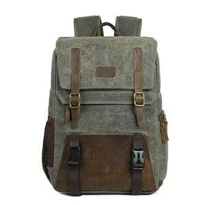 Image 3 - Careell 3059 حقيبة كاميرا جلدية حقائب الظهر سعة كبيرة ل 15.6 بوصة محمول حقيبة حمل لحقيبة السفر كاميرا فيديو رقمية