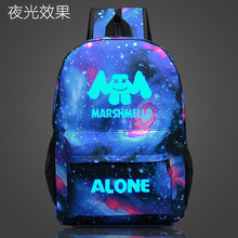 Marshmello Alone DJ School Bag noctilucous Luminous backpack student bag Notebook Daily backpack Glow in the Dark Mochila warframe school bag noctilucous backpack student school bag notebook backpack daily backpack