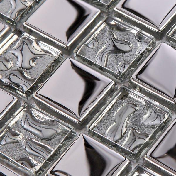 Us 224 62 Mosaic Tile Mirror Silver Metal Pattern Square Discount Bathroom Shower Decor Crystal Glass Kitchen Backsplash Tile Design Sheet Di Dari