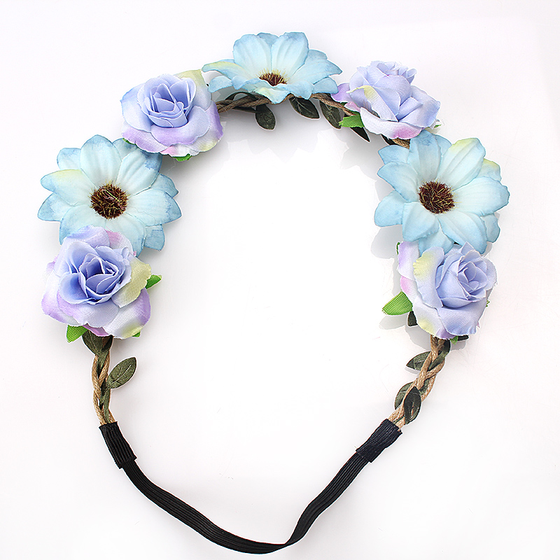 M MISM Women Flower Crown Wedding Hair Head Band Wreath