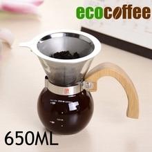 NEUE ANKUNFT 650 ML Holzgriff Kaffee Chemex Brewer 8-10cups Chemex