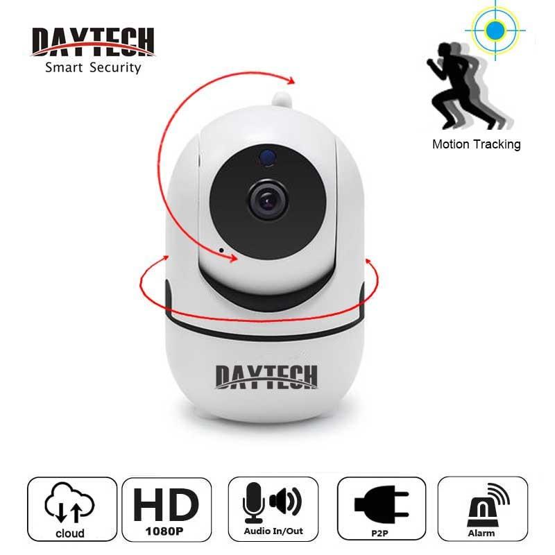 DAYTECH Wireless Security IP Camera Mini WiFi Camera Auto Motion Tracking 720P/1080P Audio Cloud CCTV Monitor
