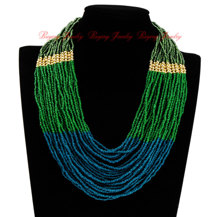 New Hot Fashion Blue Long Chain Style Handmade Color Perfect Match ...