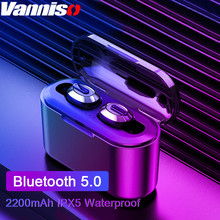 Vanniso Bluetooth Earphone TWS HBQ Wireless Blutooth 5.0 Handsfree Headphone Sports Earbuds Stereo Headset Charging Box