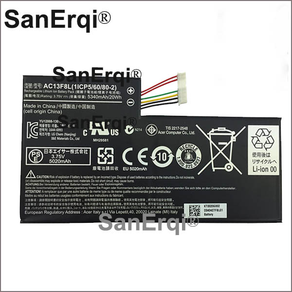 Tablet Batteries & Backup Power Tablet Accessories 1icp5/60/80-2 Ac13f8l Battery For Acer Iconia Tab A1-810 A1-811 W4-820 W4-820p 1cp5/60/80-2 Ac13f3l Laptop Tablet Pc Battery Profit Small