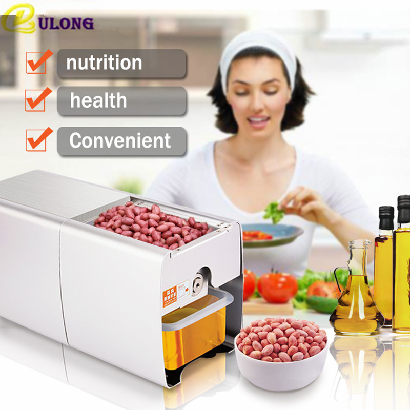 Home Use 110V Or 220V Seed Oil Press Machine Nut Seed Automatic Stainless All Steel Presser High Oil Extraction jiqi automatic industrial oil press machine press preheat oil presser 220v 110v peanut soybean high extraction rate household