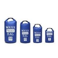 5L, 10L, 20L, 30L Сверхлегкий плавательный мешок сухой открытый складной Каякинг хранение дрейфующий водостойкий Рафтинг сумка 3 цвета