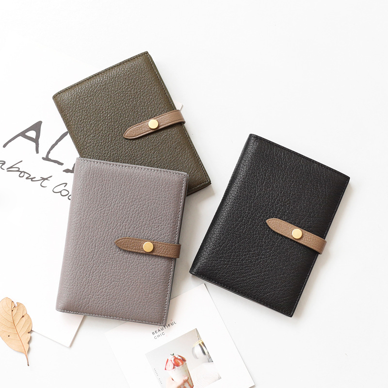 Bemoreal Passport Cover Genuine Real Leather Casual Women's Credit Business Card Holders Travel Men Capacity Wallet Brand Purse