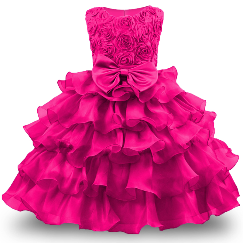 Baby Girl Dress For Girls 2017 Formal Princess Costumes Children Wedding Dress Tulle Puffy Kids Party Dresses for Girls Clothing summer kids girls lace princess dress toddler baby girl dresses for party and wedding flower children clothing age 10 formal