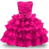 Vestido de niña para Niñas 2017 formal princesa trajes niños vestido de boda tulle puffy fiesta Vestidos para Ropa femenina de bebé