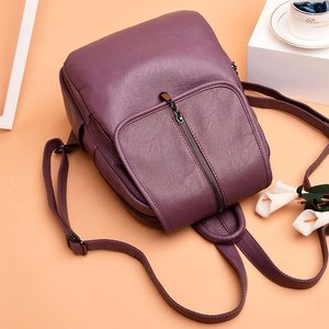 Image 5 - 2018 Women Backpack High Quality Leisure Rucksack PU Leather Mochila Mother Vintage Bags Top handle Backpacks Fashion Daypack