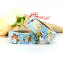 1X Cartoon cute pet tape diy hand book album decoration animal tear sticker