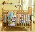 Promoção! 7 PCS leão bordado berço berço cama Set Quilt Bumper folha saia ( Bumper + tampa + cama edredão + cama saia )