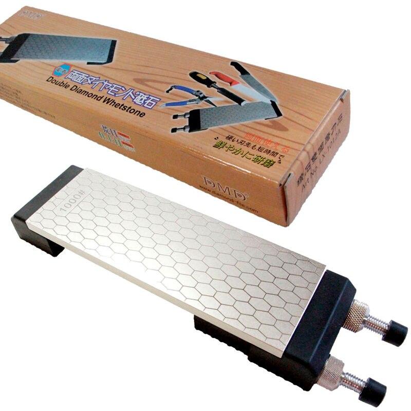 Retail 1set DMD double side diamond whetstone ice skate kitchen knife sharpener plus holder free shipping