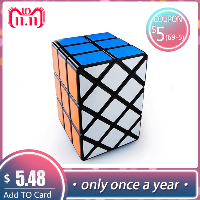 LeadingStar Seltsame-form Magic Speed Cube 3rd Cube Professionelle Geschwindigkeit Puzzle Cubes Cubo Magico Doppel Fisch Cube Lernen