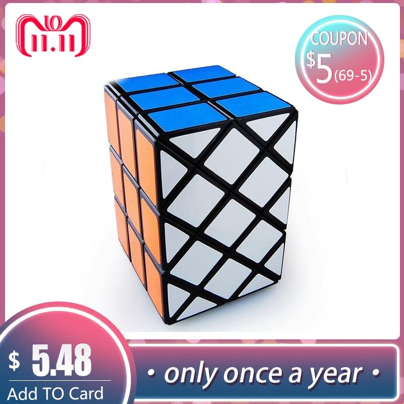 LeadingStar extraña forma de magia Speed Cubo 3rd Cubo profesional velocidad cubos rompecabezas Cubo mágico peces doble Cubo de aprendizaje