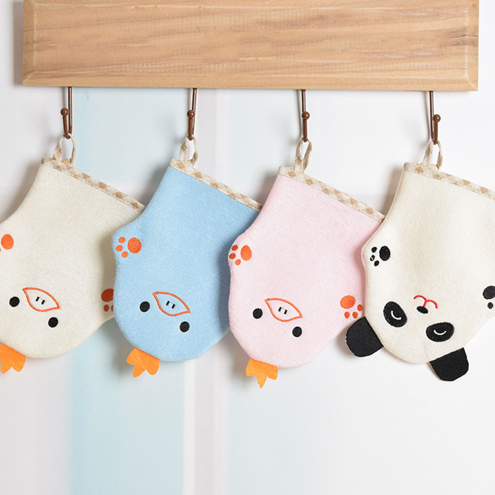 Cute Baby Bath Brushes Sponge Cartoon Super Soft Cotton Brush Rubbing Towel Ball Bath Gloves Cleaning Supply