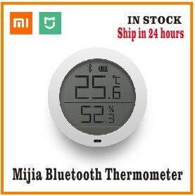 שיאו mi mi jia Bluetooth טמפרטורה חכם Hu mi dity חיישן LCD מסך דיגיטלי מדחום לחות מד mi APP-בשלט רחוק חכם מתוך מוצרי אלקטרוניקה לצרכנים באתר