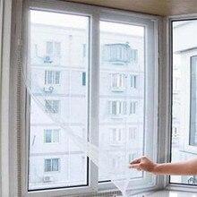 Москитная сетка окно Летающий занавес насекомое сетка экран самоклеющиеся анти-москитные двери сетки от мух москитная сетка D5