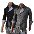 2014 New Spring Autumn Plaid Front fly Fashion Cardigan Mens Sweaters Slim fit Shirts Casual Outerwear Man Clothing M-XXL