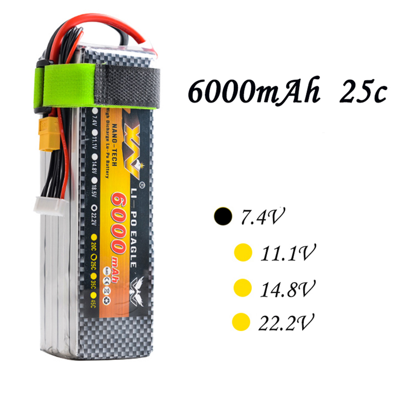 россия платье s 25 max High Quality RC Battery 7.4V 6000mAh 25C Max 55C 2S 2Cells 7.4Volt RC LiPo Li-Poly Battery for Helicopters Quadcopter RC drone