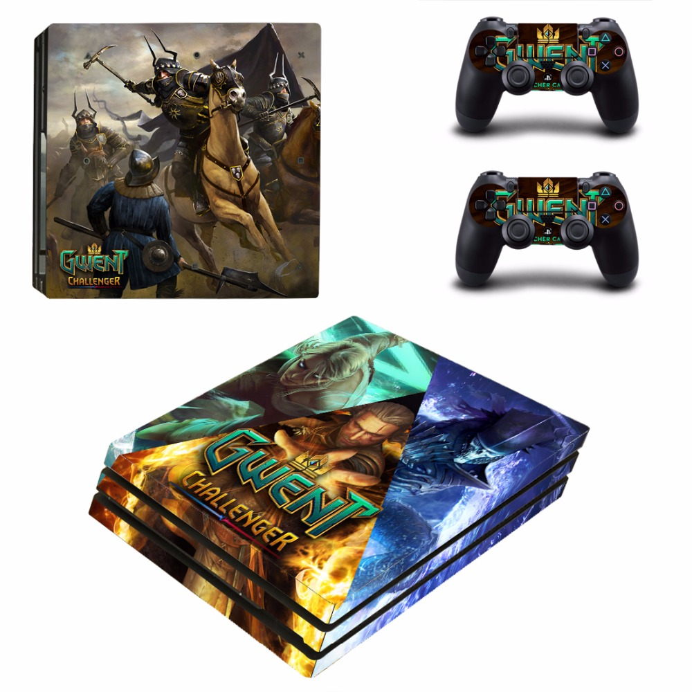 GWENT The Witcher Card Game Challenger PS4 Pro Skin Sticker For PlayStation 4 Console and 2 Controllers PS4 Pro Skins Sticker