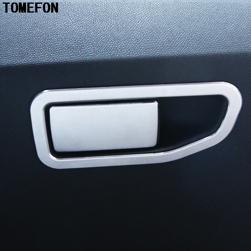 TOMEFON Front Dashboard Pessager Tool Glove Box Handle Cover font b Interior b font Accessories 2pcs