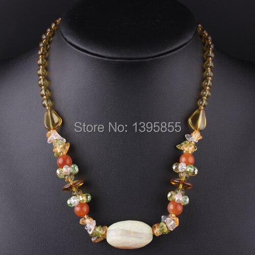 New Fashion Jewelry Crystal Necklace Colofu Statement Nature Stone Free Shipping