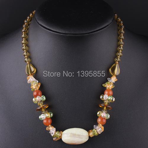 Nova moda jóias de cristal colar declaração Colofu natureza pedra frete grátis