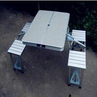 Новинка 2017 года портативный кейс стиль форма плетеная ротанговая мебель Бесплатная доставка складной стол Пикник путешествия открытый сто