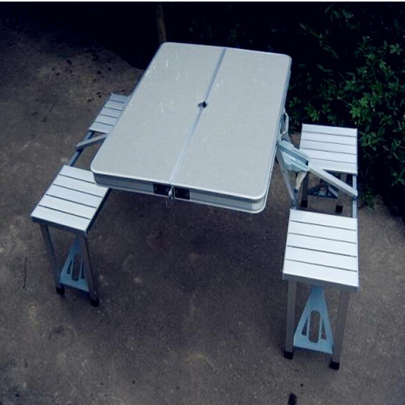 2017 nouvelle valise portable-style forme osier rotin meubles livraison gratuite Table pliante pique-nique voyage extérieur Tables