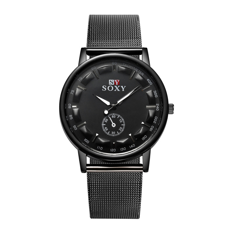 mand kvarts watch Women Fashion Watch Unisex Watches stingess stål - Mænds ure - Foto 1