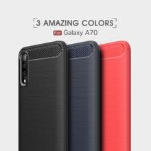 For Samsung Galaxy A5 2017 A7 2018 A8 A9 Case Soft TPU Carbon Fiber A40 A50 A60 A70 Cover