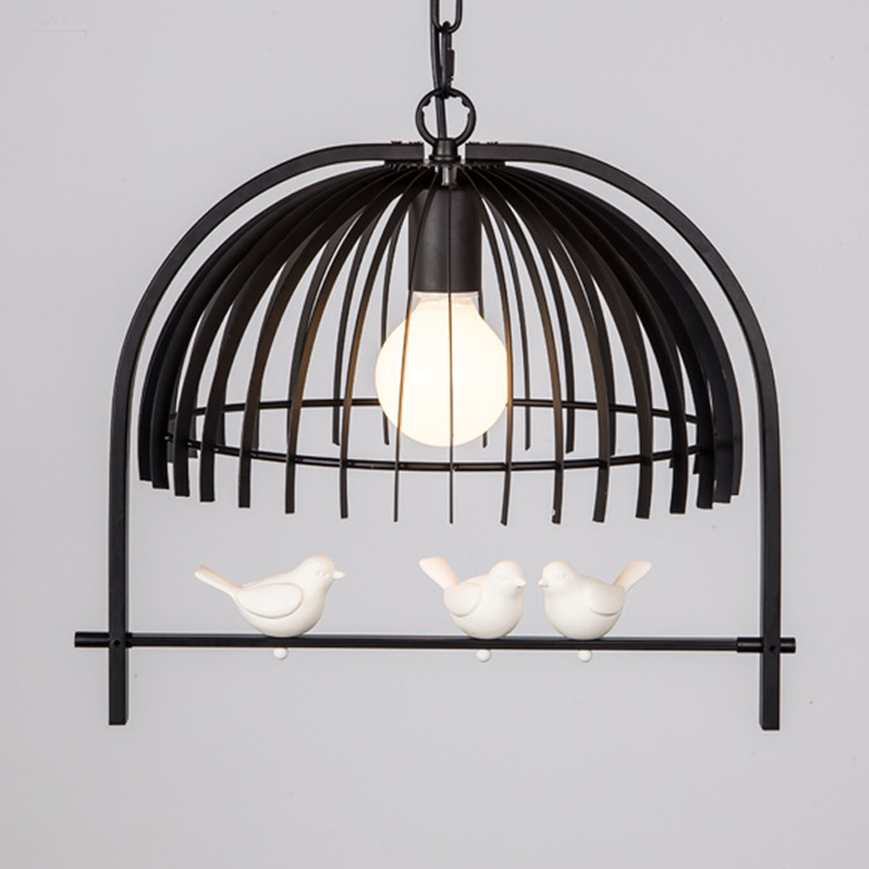 vintage pendant lights Iron loft lamps Nordic Retro Light Industrial style cage pendant lamp Restaurant Lighting hang lustre restaurant bar cafe pendant lights retro hone lighting lamp industrial wind black cage loft iron lanterns pendant lamps za10