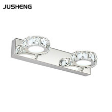 Indoor 2-lights 6W Crystal Round Wall Lighting 85-265V AC Decoration Sconces Bathroom Mirror Lighting With RoHS CE 210w bridgelux led street lights ip67 main road lighting highway lighting elevated road and bridge lighting ce rohs 85 265v