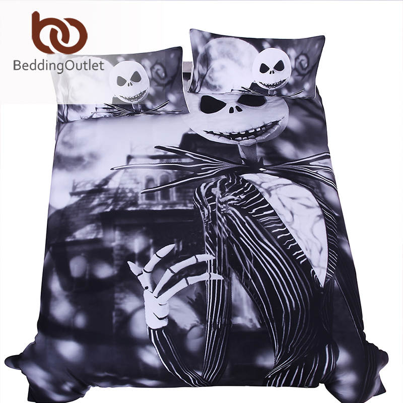 Online Shop BeddingOutlet Black and White Bedding Set Nightmare ...